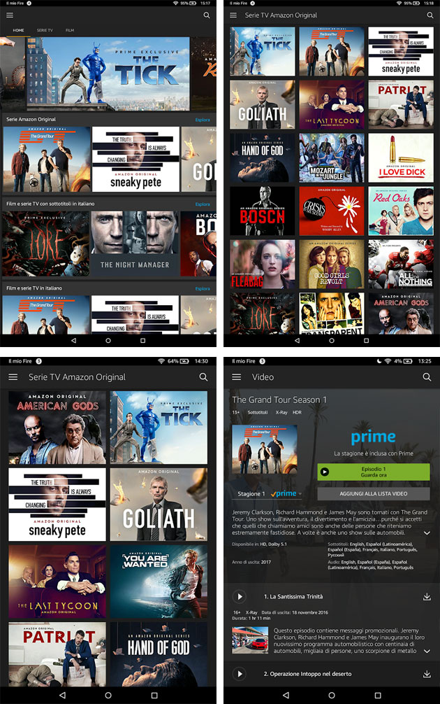 App Amazon Prime Video per Android, versione attuale