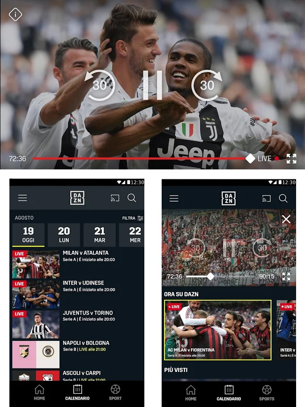 App Dazn per Android