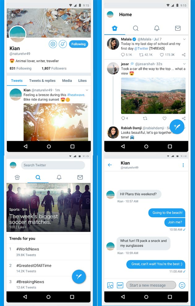 Twitter Lite per Android