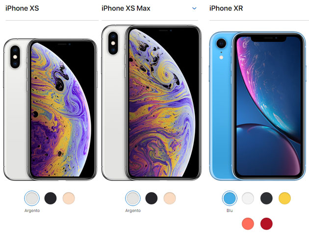 Apple iPhone Xs, iPhone Xs Max, iPhone Xr