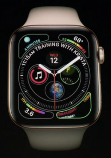 Apple Watch Series 4 - watchfaces personalizzabili