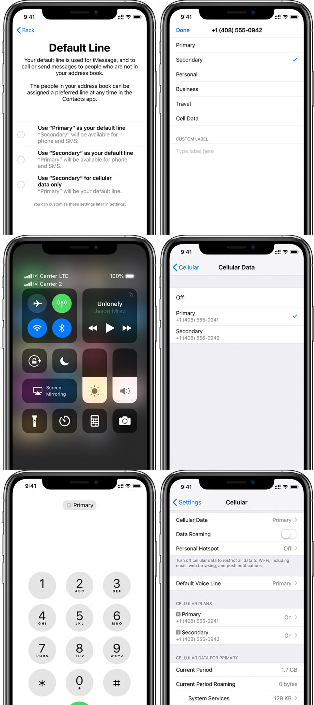 Come iPhone XS/XS Max/XR gestiscono il Dual SIM
