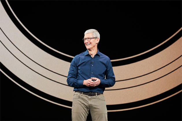 Tim Cook da' il via all'evento di Apple di settembre 2018