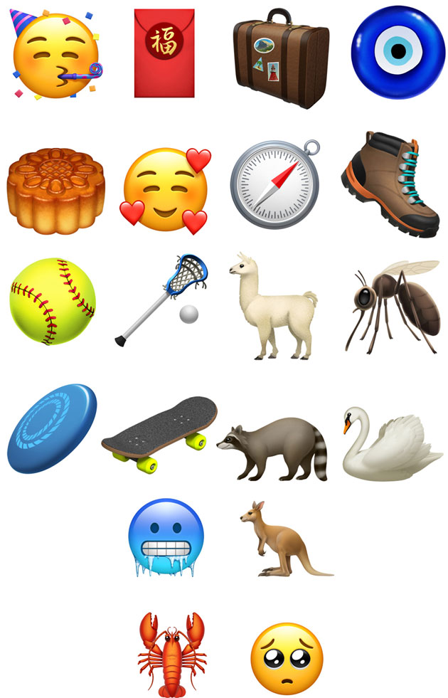 Nuove emoji in iOS 12.1 beta