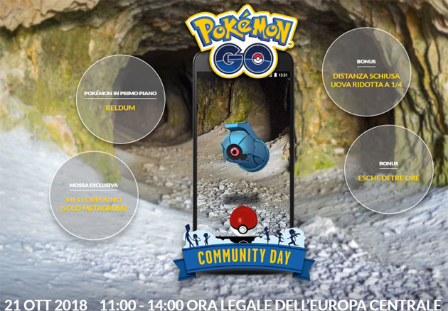 Pokemon GO Community Day 21 ottobre 2018