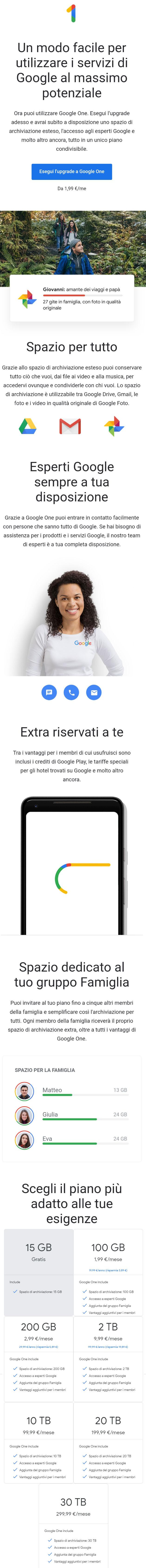 Google One Come Funziona Il Servizio Di Archiviazione Coud