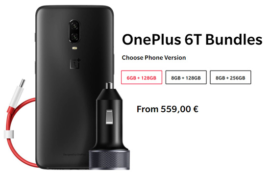 Oneplus 6T - bundle 5th Anniversary