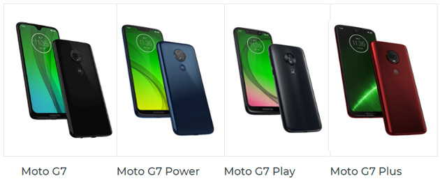 Moto G7, G7 Plus, G7 Play e G7 Power