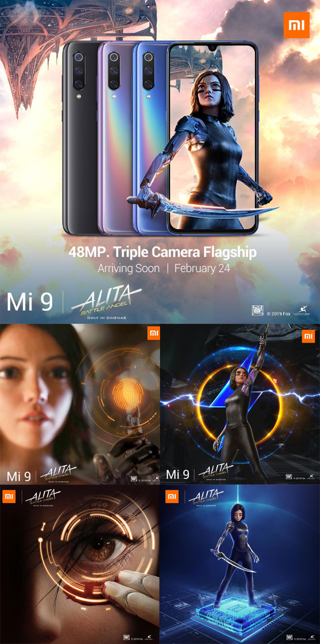 Special Edition Alita: Battle Angel di Xiaomi Mi 9