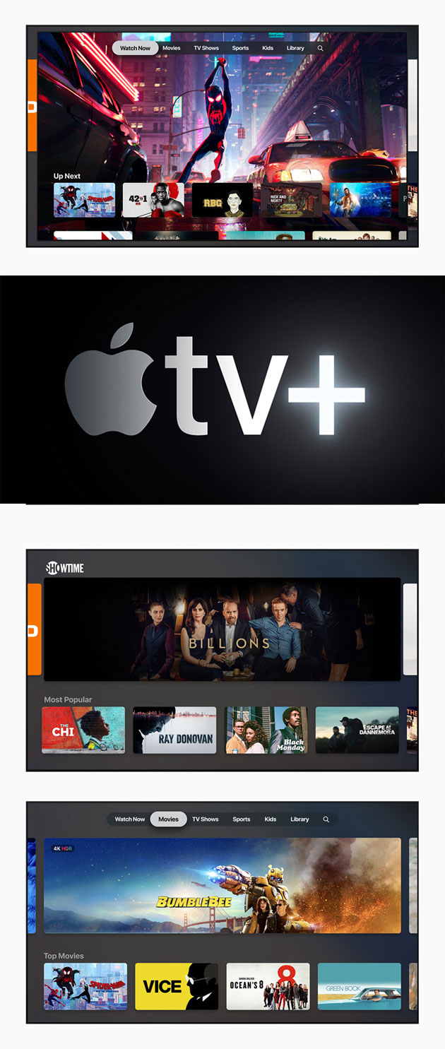 Apple TV+, nuova app Apple TV, Apple TV Channels