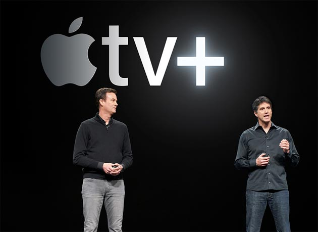 Zack Van Amburg e Jamie Erlicht annunciano Apple TV+, il nuovo servizio di video streaming on-demand Apple in abbonamento.