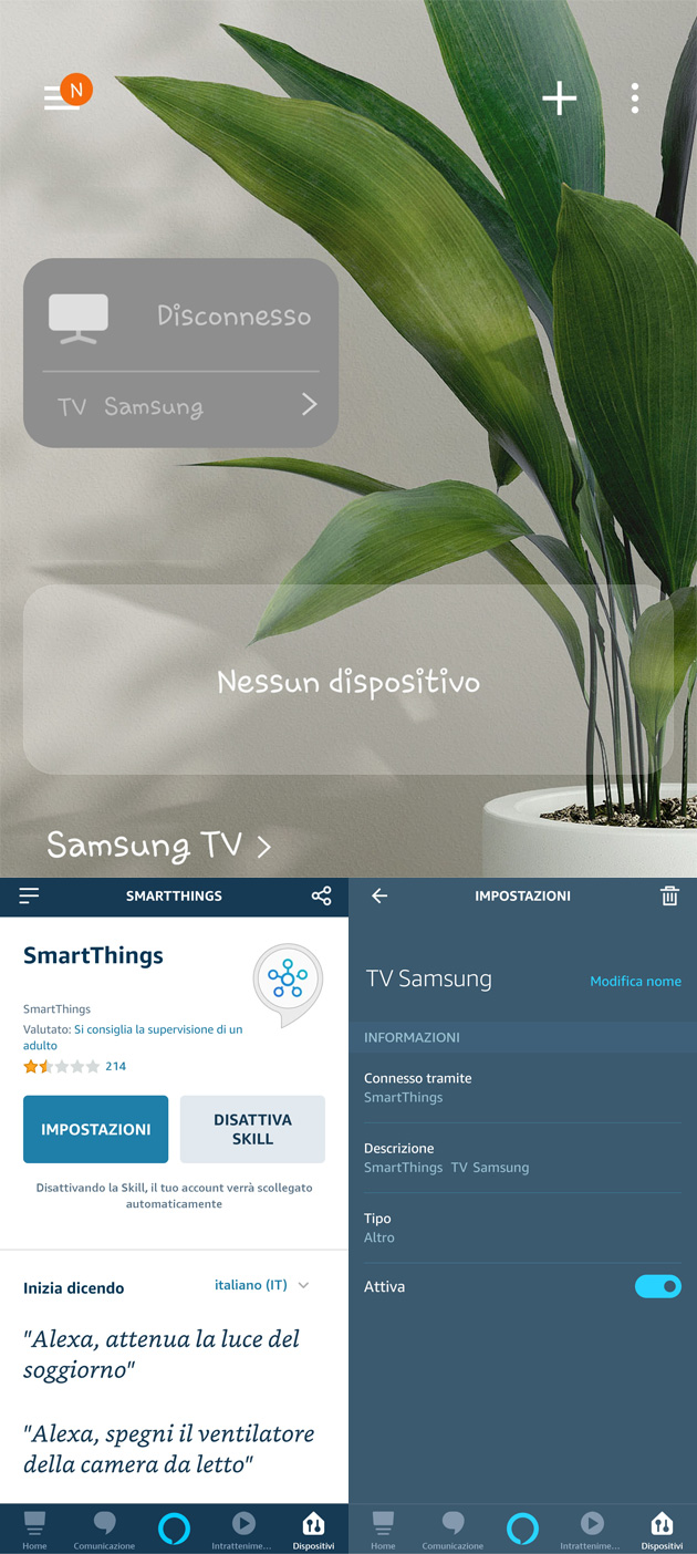 Come controllare Samsung TV con Alexa (via Samsung SmartThings)
