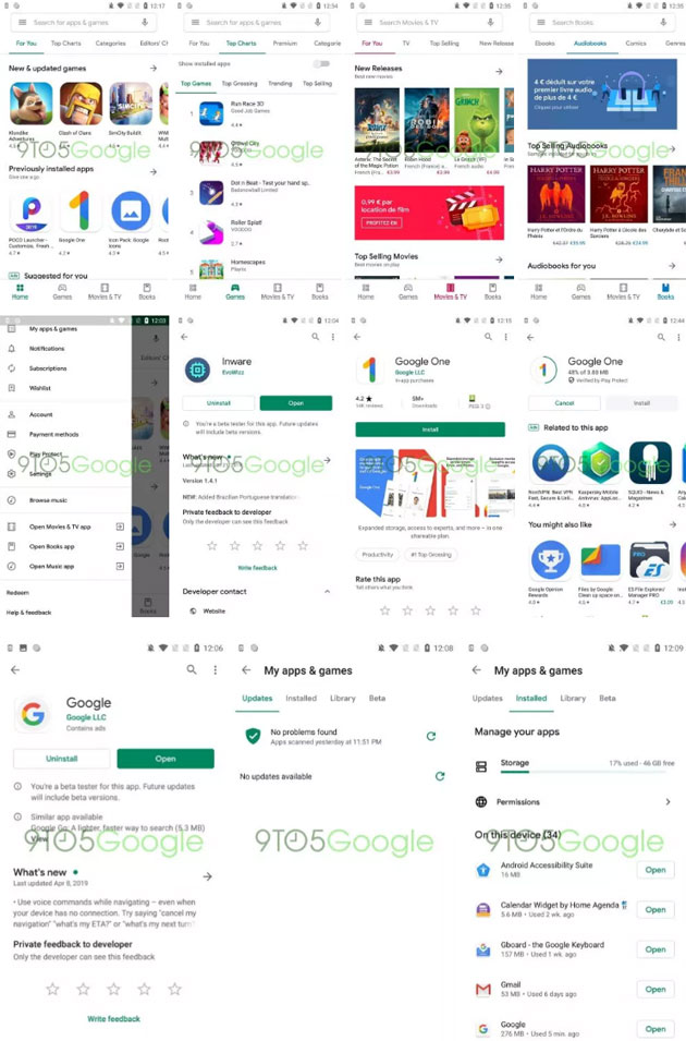 Google Play Store - app Android in Material Design - Anteprima