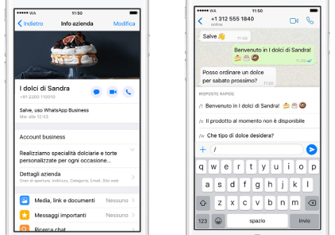 WhatsApp Business su Apple iPhone