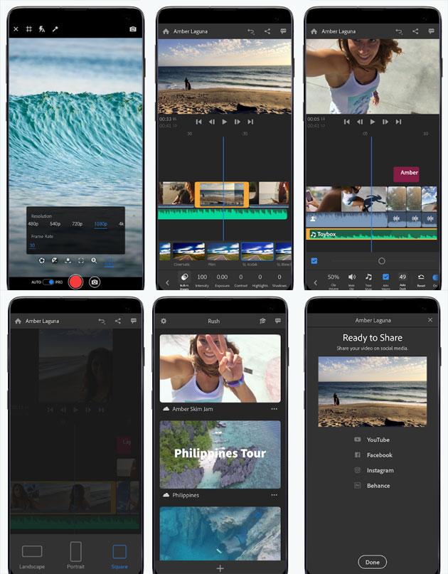 Adobe Premiere Rush per Android e in versione esclusiva per Samsung