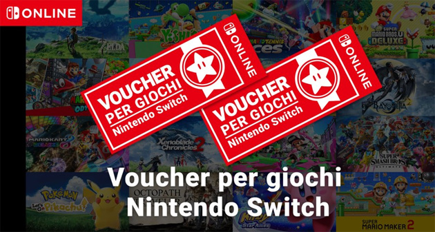 I voucher per giochi Nintendo Switch