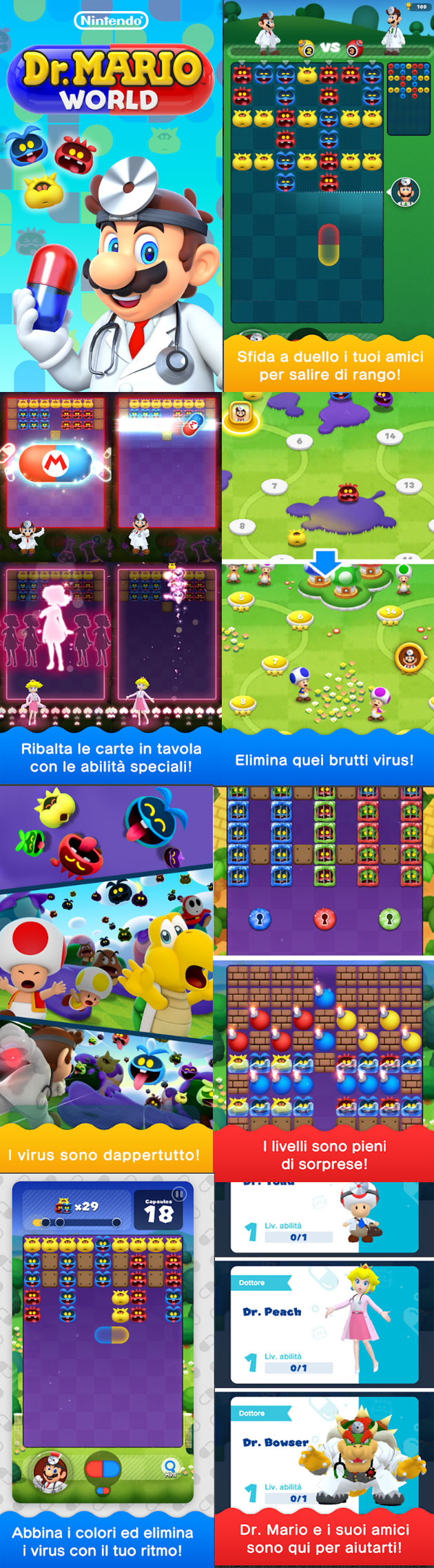 Dr. Mario World - screenshots