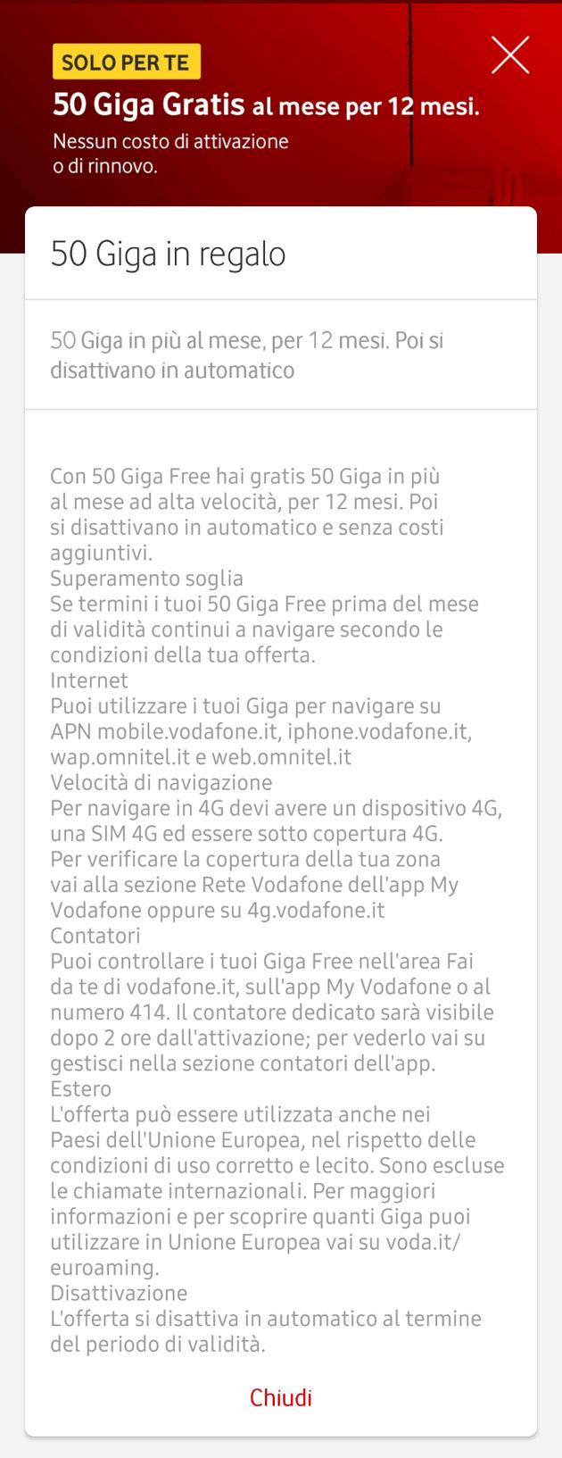Vodafone regala 50 Giga al mese per 1 anno con la promo 50 ...