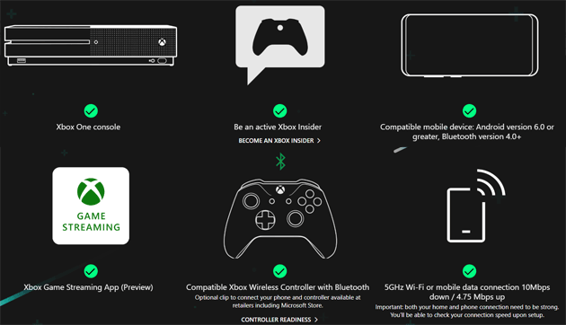 Requisiti per usare Xbox Console Streaming
