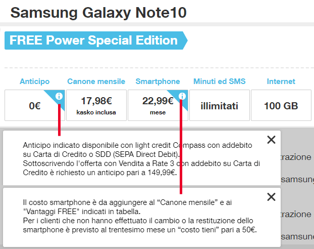 Samsung Galaxy Note10 con 3 ALL-IN Power Special Edition 2020