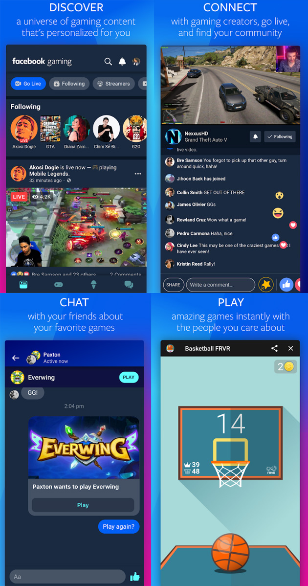 Facebook Gaming per Android