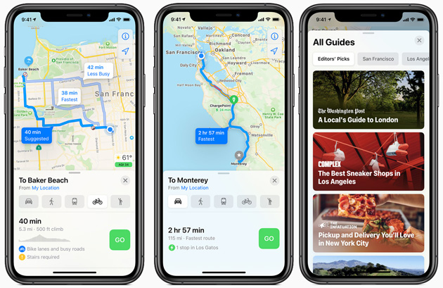 Apple Mappe in iOS 14