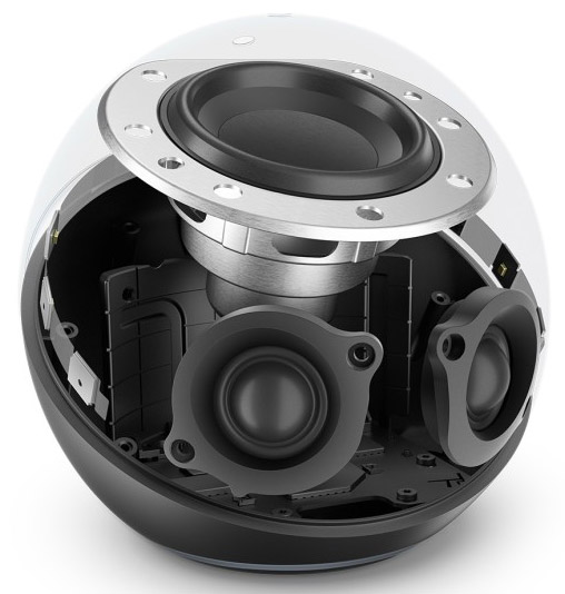 Echo 4 monta un woofer al neodimio da 76,2mm e due tweeter da 20mm