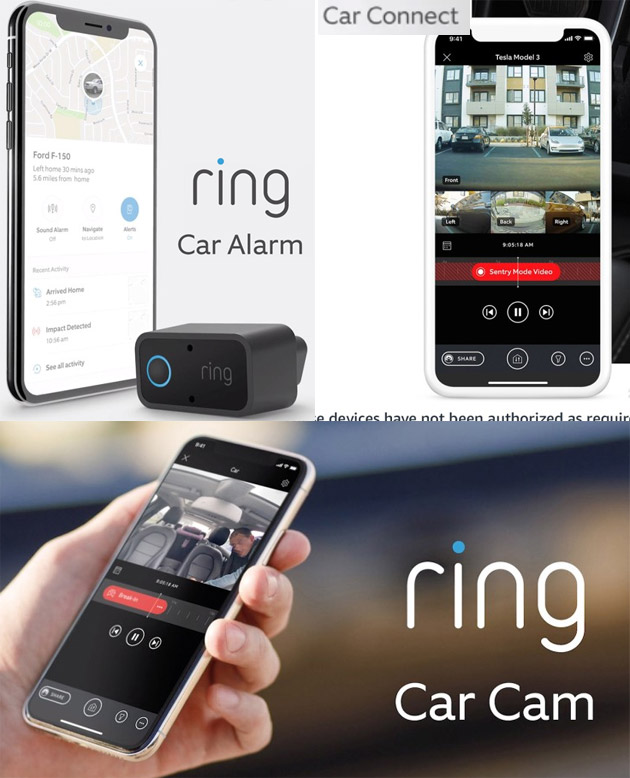 Ring Car Connect, Ring Car Cam, Ring Car Alarm