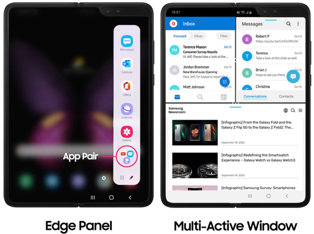 Galaxy Fold - Edge Panel e Multi-Active Window