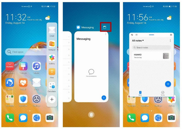 Il Multi windows in EMUI 11