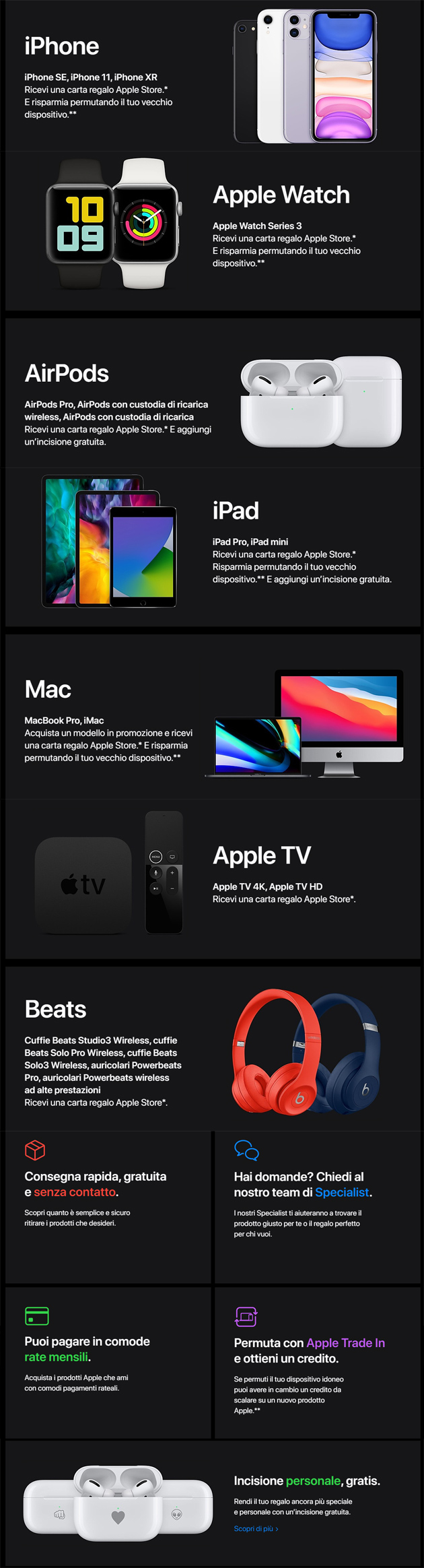 Apple per Black Friday 2020