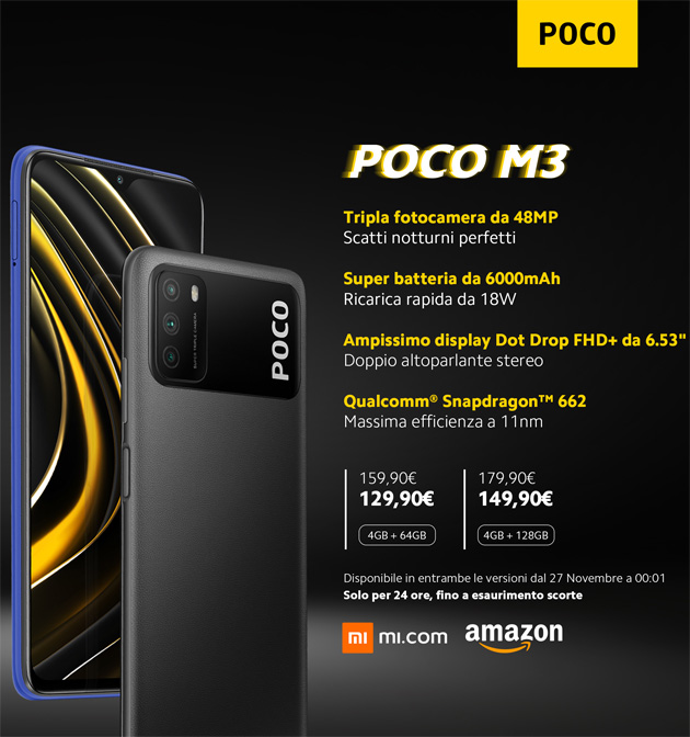 POCO M3 - specifiche principali in italiano
