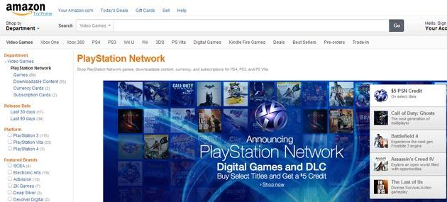 PlayStation Network arriva su Amazon.com