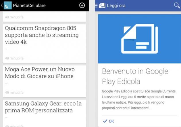 Google Play Edicola per Android, sostituisce Currents
