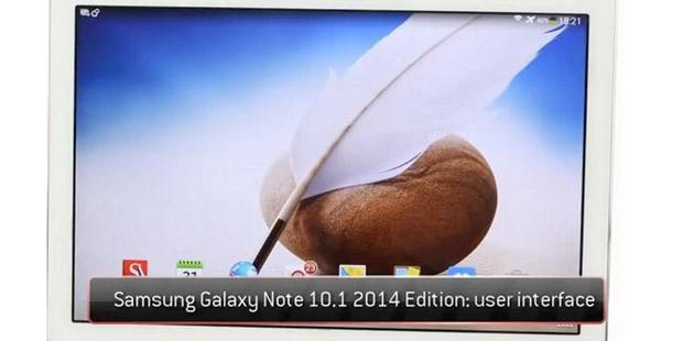 Samsung Galaxy Note 10.1 2014: video sull'interfaccia utente
