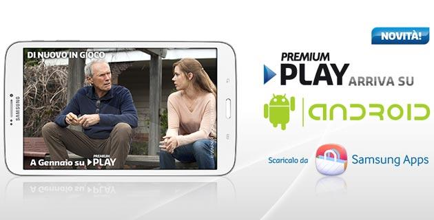 Premium Play da oggi su tablet Android Samsung