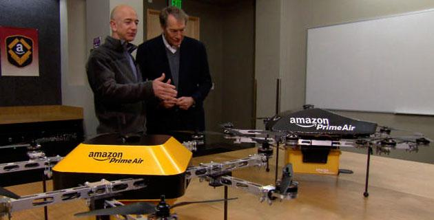 Amazon Prime Air: droni aerei per consegne in 30 minuti