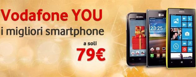Vodafone YOU: a Dicembre 2013 sconto sul nuovo smartphone