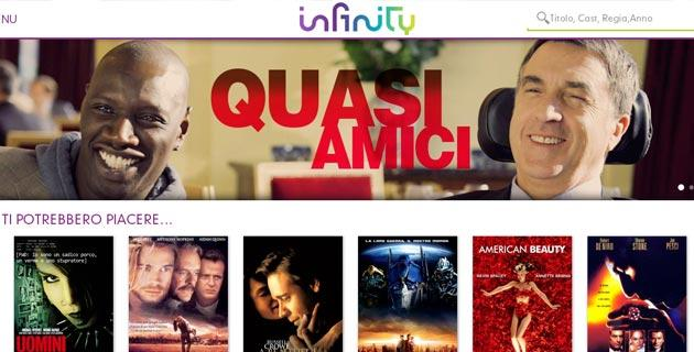 Infinity di Mediaset su tablet Android e iPad