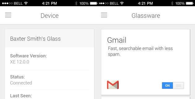 Google MyGlass disponibile per iOS su App Store