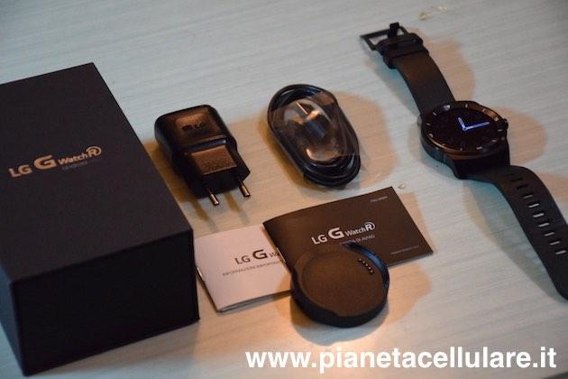 LG G Watch R: video unboxing, primo avvio e prime impressioni
