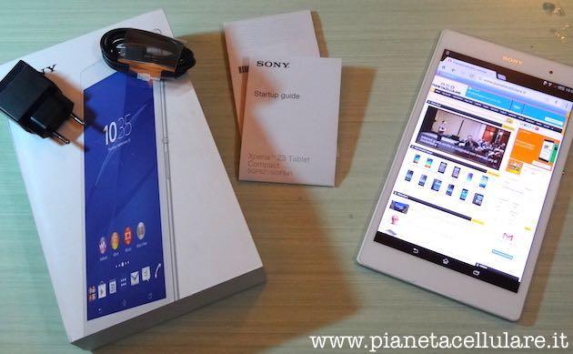 Sony Xperia Z3 Tablet Compact: unboxing, primo avvio e prime impressioni