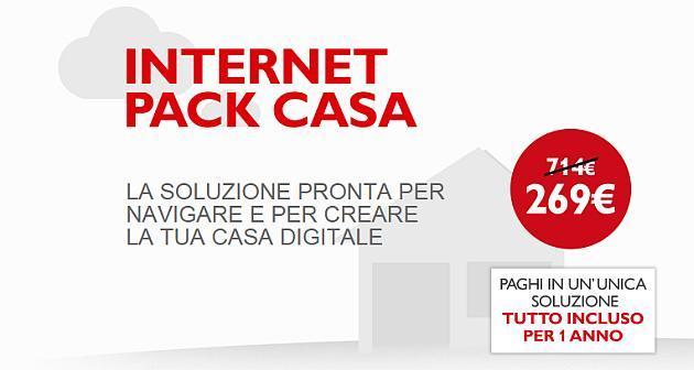 Telecom Internet Pack casa: 12 mesi di linea e navigazione a 269 euro