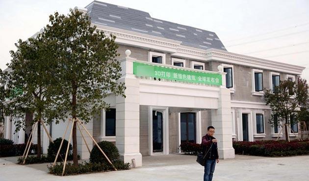 Primo edificio al mondo stampato in 3D costruito in Cina