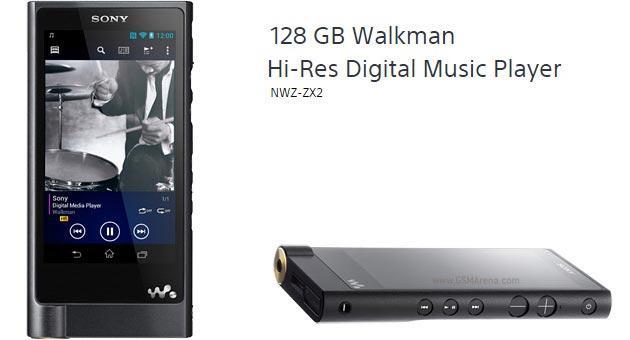 Sony Walkman ZX2, nuovo player con Android da 1199 euro