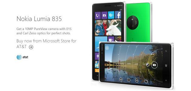 Microsoft elenca Lumia 835 sul suo sito web