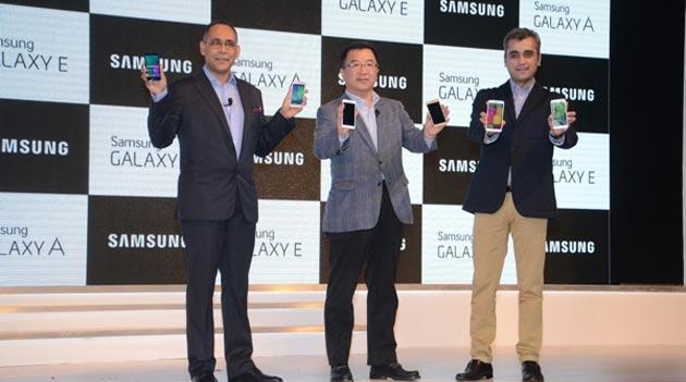 Samsung lancia Galaxy E7, E5, A5 e A3 in India