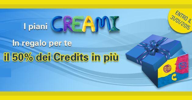 PosteMobile Creami: crediti in Omaggio per nuove attivazioni entro il 31 Gennaio
