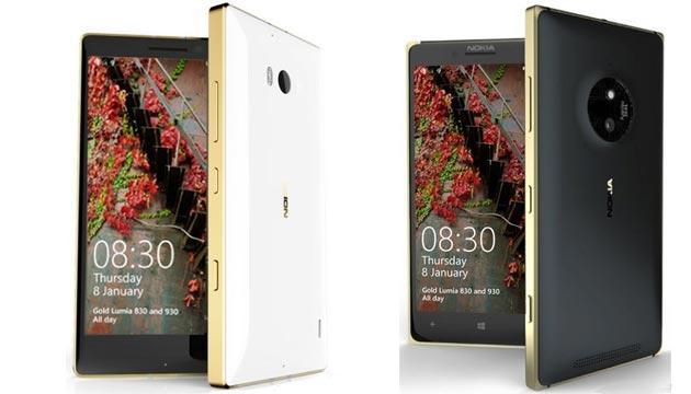 Microsoft Lumia 930 e Lumia 830 Gold Edition presentati al CES