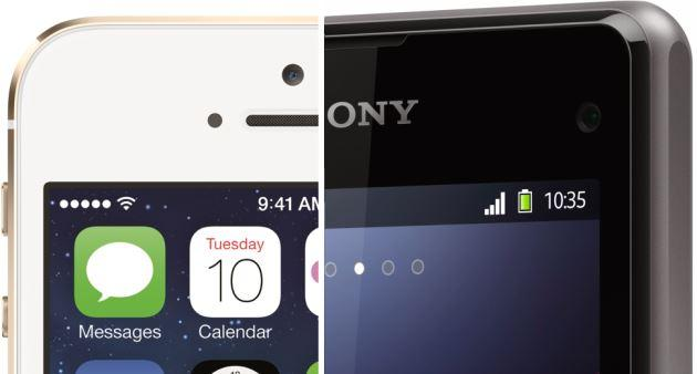 Sfida: Sony Xperia Z1 Compact vs Apple iPhone 5S
